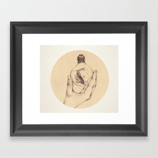 Organic V Framed Art Print