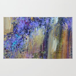 Wisteria, abstract art Rug
