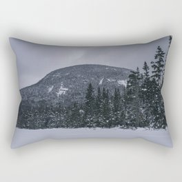 Winter at Lonesome Lake in the White Mountains Rectangular Pillow