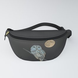 Owl, See the Moon (Barred Owl) Fanny Pack