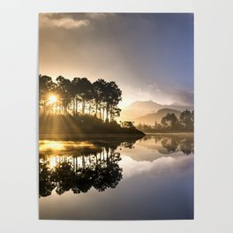 Sunset Reflections on Lake Poster