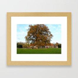 Barn & Oak Framed Art Print