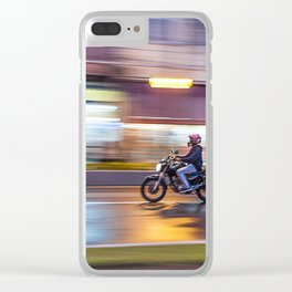 motorcyclist Clear iPhone Case