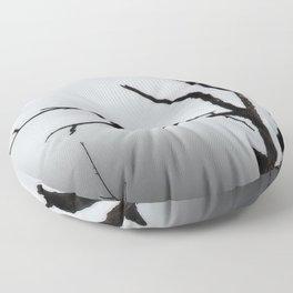 Solitary Crow Floor Pillow