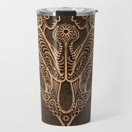 Vintage Rustic Gemini Zodiac Sign Travel Mug