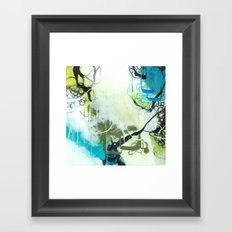 Everglades - Square Abstract Expressionism Framed Art Print