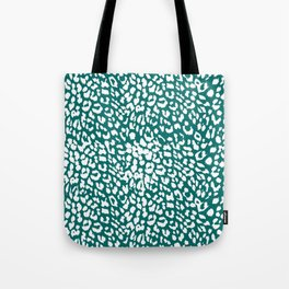 Leopard Quetzal Green Tote Bag