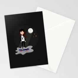 Skateboarding Dreaming Girl Stationery Cards