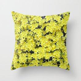 Happy Forsythia Throw Pillow