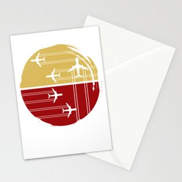 Flying Air Planes Stationery Cards