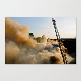 Fire in Frederick Canvas Print