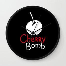 Black cherry bomb Wall Clock