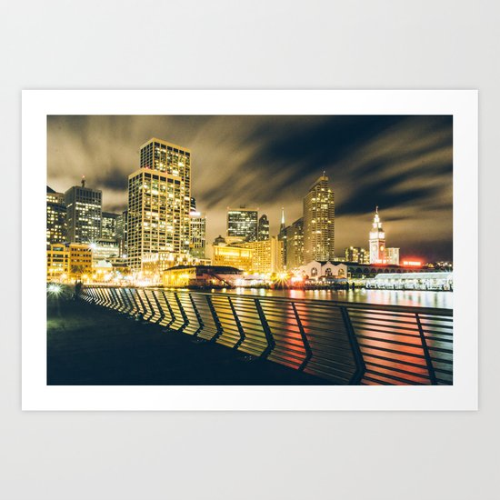 Pier 14 Art Print