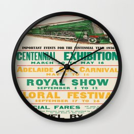 Vintage poster - South Australia Railways Wall Clock