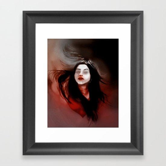 Blind love/I'll pull out my heart Framed Art Print