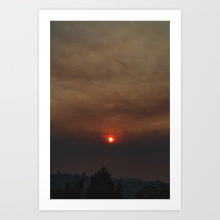 Woolsey Fire Sunset Art Print