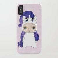 mlp iPhone & iPod Cases featuring A Boy - Rarity by Christophe Chiozzi