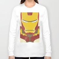 iron man Long Sleeve T-shirts featuring IRON MAN by LindseyCowley