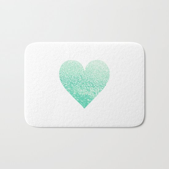SEAFOAM HEART Bath Mat