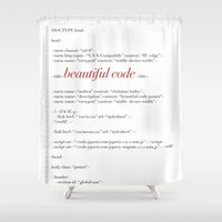 code Shower Curtains featuring Beautiful Code by Christian Bailey
