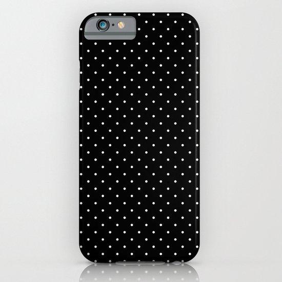 White polka dots on black iPhone & iPod Case