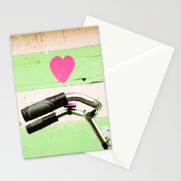 pink bicycle in amsterdam Stationery Cards