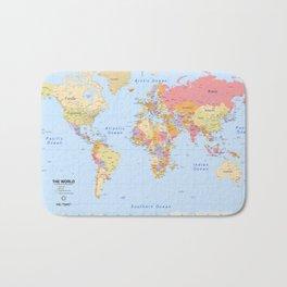 Political Map of The World - I Bath Mat