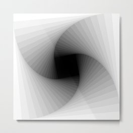 Square spiral - Bright Metal Print