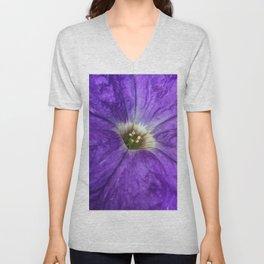 Purple Petunia Unisex V-Neck