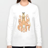 steam punk Long Sleeve T-shirts featuring Steam Punk Octopus by J&C Creations