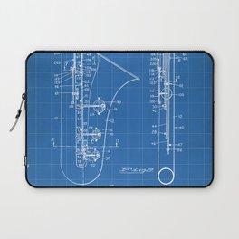 Selmer Saxophone Patent - Saxophone Art - Blueprint Laptop Sleeve