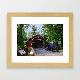 Zook's Mill Covered Bridge  Framed Art Print