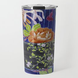 Kimono Flowers Travel Mug
