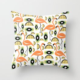 Sweet flamingos Throw Pillow