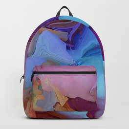 Alcohol Ink Flowers Backpack