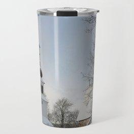 Belfry in Winter Travel Mug