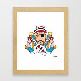 04 - TATTOO GOOD LUCK Framed Art Print