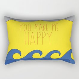 You Make Me Happy Rectangular Pillow