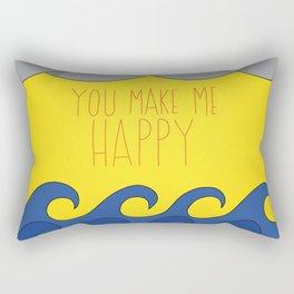 You Make Me Happy Rectangular Pillow