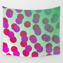 Cool dots - pink, green Elements Wall Tapestry