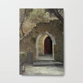 Archways at Castelo de Sao Jorge Metal Print
