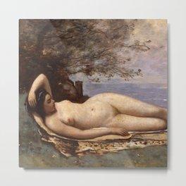 "Jean-Baptiste-Camille Corot ""Bacchante by the Sea"" Metal Print"