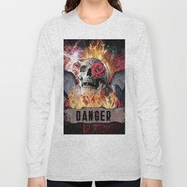 DANGER ROCK SKULL Long Sleeve T-shirt