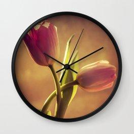 Tulip duet Wall Clock