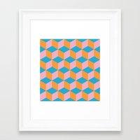 dad Framed Art Prints featuring dad by Rhianna Ellington