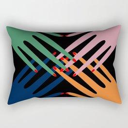 hands up Rectangular Pillow