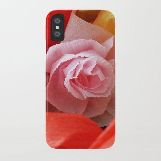 Paper handmade flowers iPhone Case