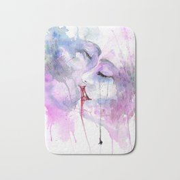 "Watercolor Painting of Picture ""Passion"" Bath Mat"