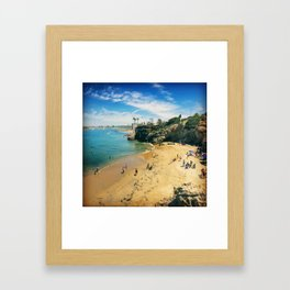 Playful Shores Framed Art Print
