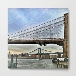 BRIDGES ON BRIDGES Metal Print